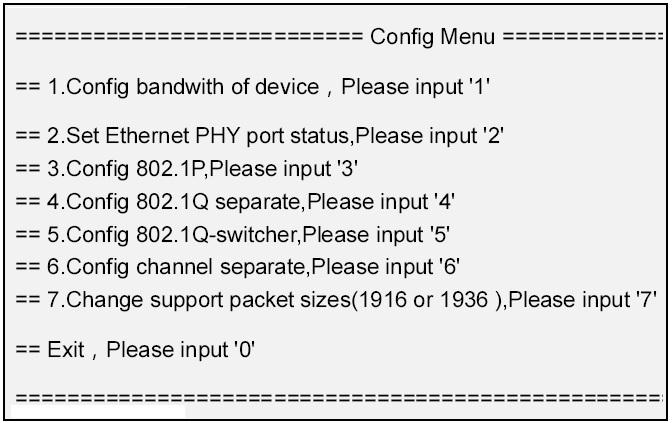 gigabit ethernet fiber multiplexer management screen